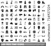 100 free time icons set in...   Shutterstock .eps vector #716927224
