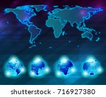 world map set | Shutterstock .eps vector #716927380