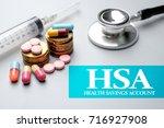 health financial concept of hsa ... | Shutterstock . vector #716927908