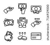 money   finance icon set | Shutterstock .eps vector #716929000