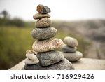 zen stone balance rock... | Shutterstock . vector #716929426