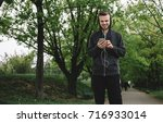 a portrait of a young guy...   Shutterstock . vector #716933014