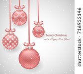 Christmas Background With Pink...