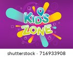 kids zone colorful banner.... | Shutterstock .eps vector #716933908