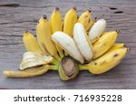 cultivated banana so fresh on... | Shutterstock . vector #716935228