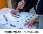 hand of businessman point to...   Shutterstock . vector #716938888