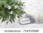 christmas tree  glove  text... | Shutterstock . vector #716943088