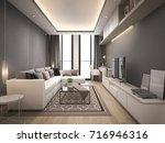 3d rendering luxury and modern... | Shutterstock . vector #716946316