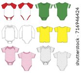vector drawings of various baby ... | Shutterstock .eps vector #716946424