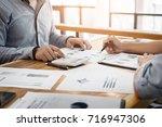 administrator business man... | Shutterstock . vector #716947306