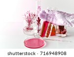 scientist doing a research with ...   Shutterstock . vector #716948908