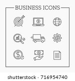 business thin flat icons in...   Shutterstock .eps vector #716954740
