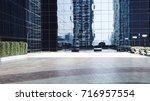 contemporary building exterior... | Shutterstock . vector #716957554