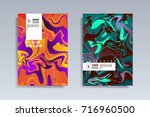 fluid color covers set.... | Shutterstock .eps vector #716960500