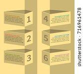vector abstract 3d paper... | Shutterstock .eps vector #716961478