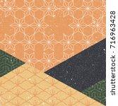 japanese pattern vector.... | Shutterstock .eps vector #716963428