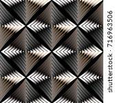 modern abstract geometric... | Shutterstock .eps vector #716963506