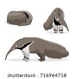cute anteater cartoon vector...