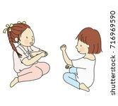vector illustration of two... | Shutterstock .eps vector #716969590