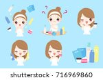 woman with beauty concept on... | Shutterstock .eps vector #716969860