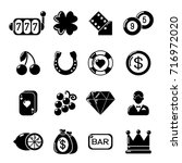 casino icons set. simple... | Shutterstock .eps vector #716972020