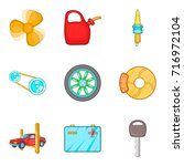 engine repair icons set.... | Shutterstock .eps vector #716972104
