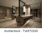 contemporary interior of public ...   Shutterstock . vector #716972320