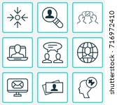 business icons set. collection... | Shutterstock .eps vector #716972410