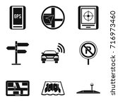 signpost icons set. simple set... | Shutterstock .eps vector #716973460