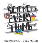 science theme t shirt design... | Shutterstock .eps vector #716975068