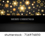 merry christmas and happy new... | Shutterstock .eps vector #716976850