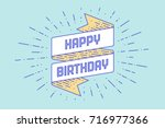 vintage ribbon banner and... | Shutterstock .eps vector #716977366