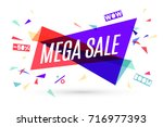 ribbon banner with text mega... | Shutterstock .eps vector #716977393