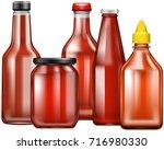 different design of bottles for ...   Shutterstock .eps vector #716980330