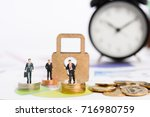 key to succeed big market share ... | Shutterstock . vector #716980759