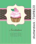 Cute Invitation Background Wit...