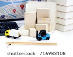 food delivery   freight... | Shutterstock . vector #716983108