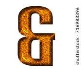 hot orange sparkling glitter...   Shutterstock . vector #716983396