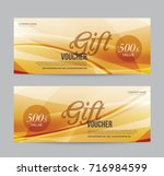 gift voucher template promotion ... | Shutterstock .eps vector #716984599