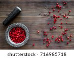 Mortar With Berries  Herbs And...
