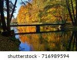 beautiful autumn landscape  ... | Shutterstock . vector #716989594