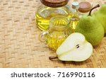 european pear seed oil with...   Shutterstock . vector #716990116