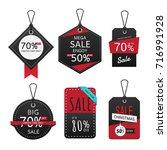 set of sale banner. sale labels ... | Shutterstock .eps vector #716991928