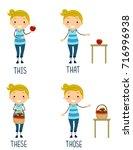 illustration of a stickman kid... | Shutterstock .eps vector #716996938