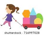 illustration of a kid girl... | Shutterstock .eps vector #716997028