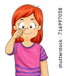 illustration of a kid girl... | Shutterstock .eps vector #716997058