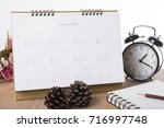 calendar 2018 on desk office.... | Shutterstock . vector #716997748