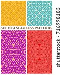 set of 4 abstract modern celtic ...   Shutterstock .eps vector #716998183