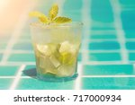 mojito cocktails refreshing for ... | Shutterstock . vector #717000934