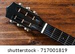 Black Acoustic Guitar Head ...